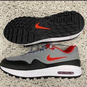 Nike Air Max 1 G Golf Shoes Grey Red Black